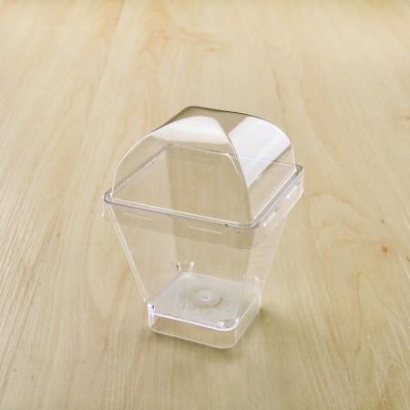 ถ้วยมูสเค้ก 444 ฝาโดม 7.5oz. (25ชิ้น/แพค)