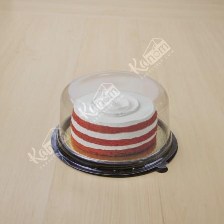 กล่องเค้กกลมฐานน้ำตาล 1 ปอนด์+ฝาเรียบ(10ชิ้น/แพค)