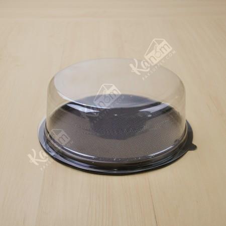กล่องเค้กกลมฐานน้ำตาล 3 ปอนด์+ฝาเรียบ (10ชิ้น/แพค)