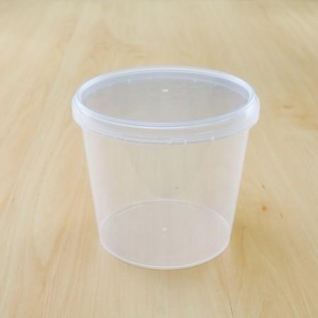 ถ้วยเซฟตี้ซีลกลม 750 ml + ฝา(25ชิ้น/แพค)