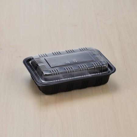 กล่องอาหาร PP ดำ #8510 + ฝา OPS (50 PCS/PACK)