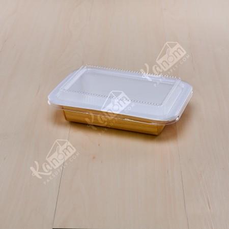 กล่องไฮบริดกระดาษเฟสท์+ฝา 650ML.ลายไม้ (50ชิ้น/ห่อ)