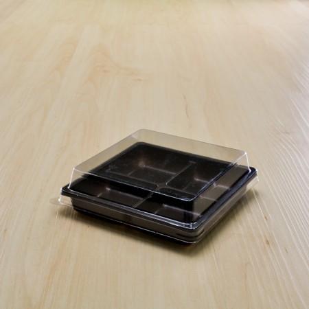 กล่องเบเกอรี่ฐานน้ำตาลฝาใส M-104(100ชิ้น/แพค)