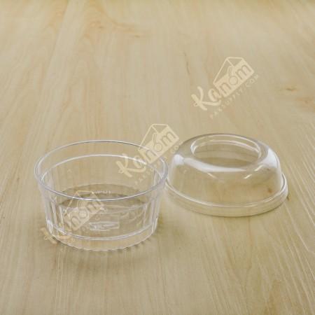 ถ้วยมูสเค้กS1 ฝาโดม (25ชิ้น/แพค)