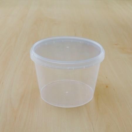 ถ้วยเซฟตี้ซีลกลม 600 ml + ฝา(25ชิ้น/แพค)