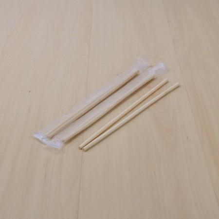 ตะเกียบหัวกลม 22cm. บรรจุซองฟิลม์พลาสติกใส(1ห่อบรรจุ100คู่)