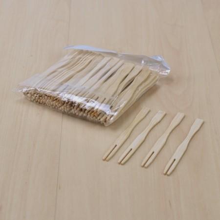 ซ้อมไม้จิ้ม อาหาร,ขนม 9cm.(1แพค100ชิ้น)