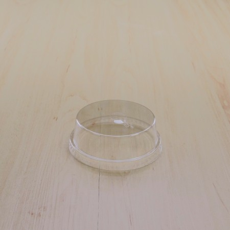 ฝาโดมตัดครึ่งปิดแก้ว PET #98 (50ชิ้น/แพค)