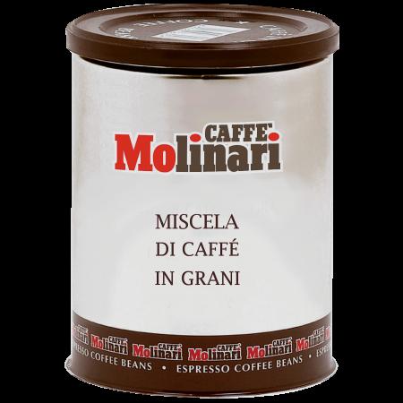 เมล็ดกาแฟอิตาลี คั่วกลาง CAFFE' MOLINARI MISCELA DI CAFFE IN GRANI บรรจุกระป๋อง 250g. (ฝาน้ำตาล)