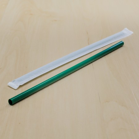 หลอดตรงสีเขียว(100ชิ้น/แพค)