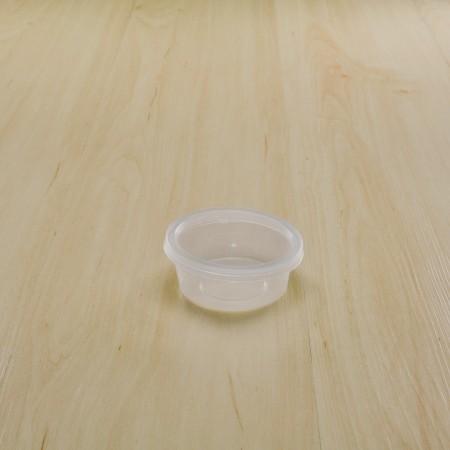 กล่องใส่อาหารทรงกลม PP ใส 70 ml+ฝา(25ชิ้น/แพค)