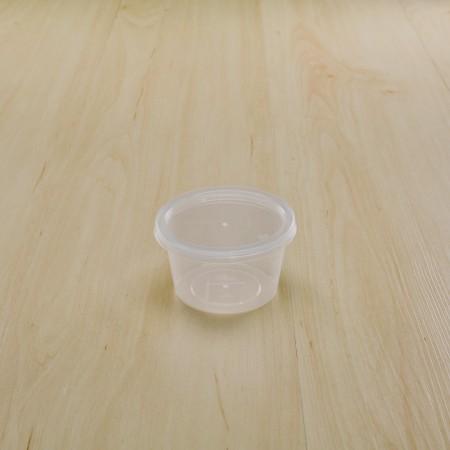 กล่องใส่อาหารทรงกลม PP ใส 120 ml+ฝา(25ชิ้น/แพค)