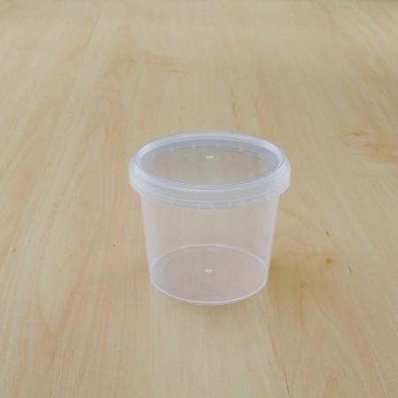 ถ้วยเซฟตี้ซีลกลม 265 ml + ฝา(25ชิ้น/แพค)