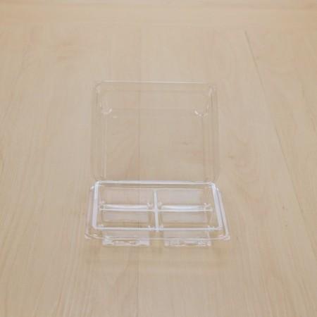 กล่องเบเกอรี่ 4 ช่องใส TP-38 (50ชิ้น/แพค)