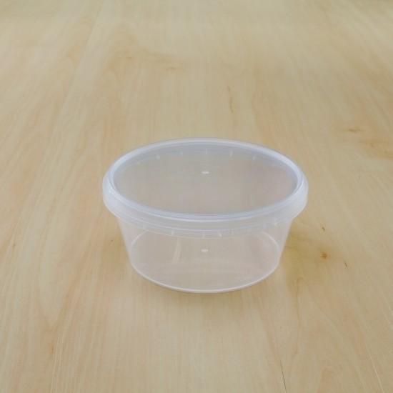 ถ้วยเซฟตี้ซีลกลม 360 ml + ฝา(25ชิ้น/แพค)