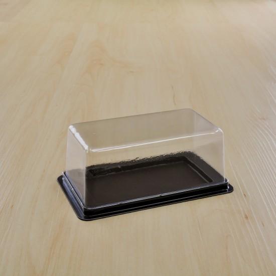กล่องเบเกอรี่ฐานน้ำตาลฝาใส M-62(50ชิ้น/แพค)