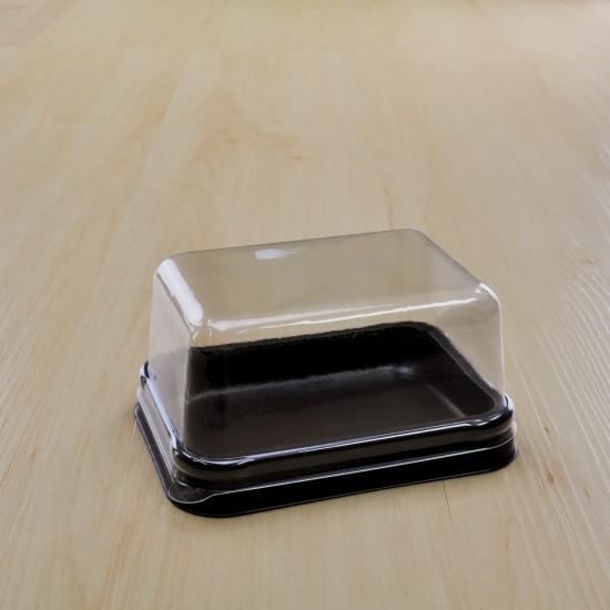 กล่องเบเกอรี่ฐานน้ำตาลฝาใส อเวสัน(50ชิ้น/แพค)