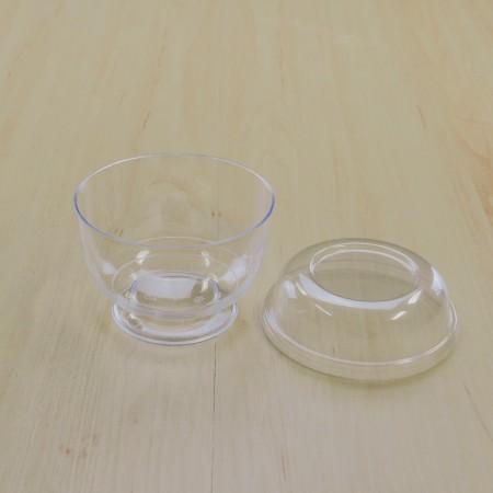 ถ้วยมูสเค้ก 222 ฝาเรียบ 9oz. (25ชิ้น/แพค)