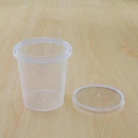 ถ้วยเซฟตี้ซีลกลม 335 ml + ฝา(25ชิ้น/แพค)