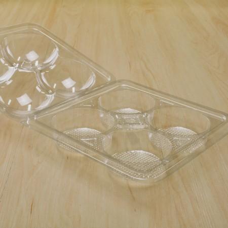 กล่องพลาสติก ใส่ปุยฝ้าย 4 ช่อง (Y-25)(100ชิ้น/แพค)