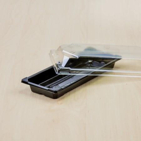 กล่องอาหารญี่ปุ่นHIPS สีดำ+ฝาใส OPS#811 (50ชิ้น/ห่อ)