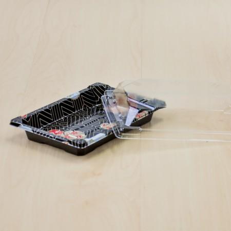 กล่องอาหารญี่ปุ่น HIPS ลาย Kamon + ฝาใส OPS#812 (50ชิ้น/ห่อ)