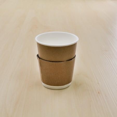 ปลอกสวมแก้วกันร้อน (8oz.) (100ชิ้น/แพค)