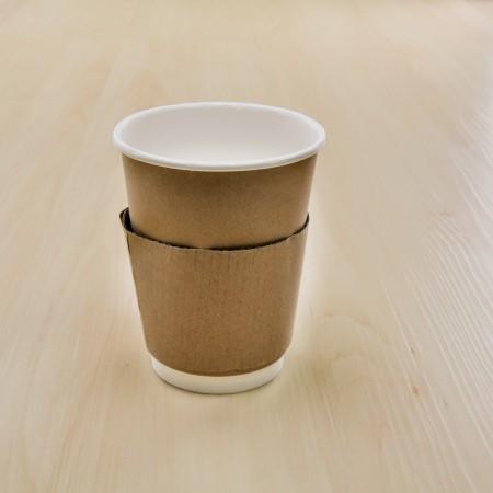 ปลอกสวมแก้วกันร้อน (12oz.) (100ชิ้น/แพค)