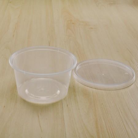 กล่องใส่อาหารทรงกลม PP ใส 440 ml+ฝา     (25ชิ้น/แพค)